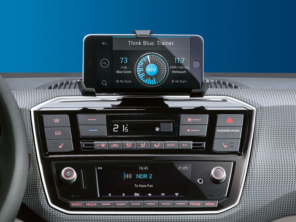 ww e-up! interieur display anzeige radio