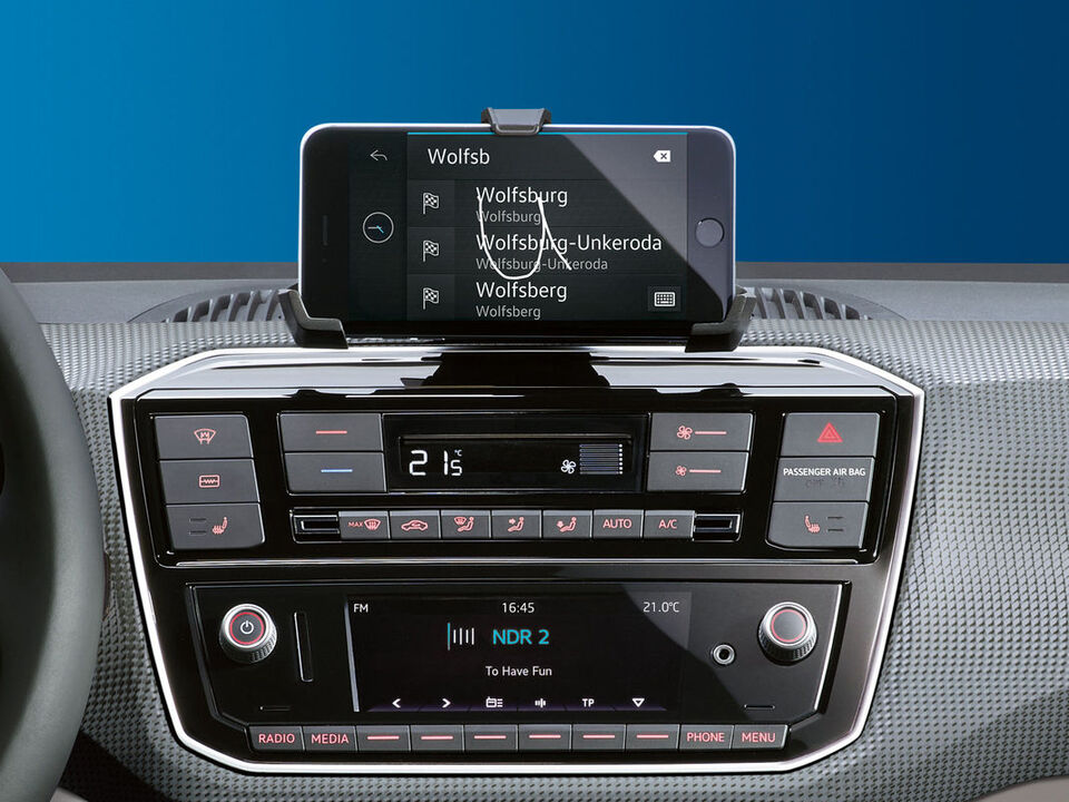 vw e-up elektroauto display radio